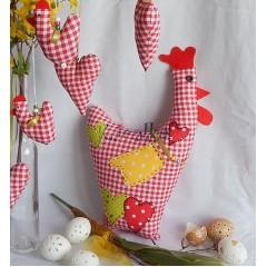 Veľkonočná dekorácia/ vtáčik - Vidiecka sliepočka
