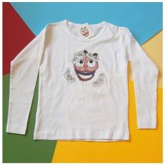Detské tričko s dlhým rukávom - OčiPuči sladká Margarétka