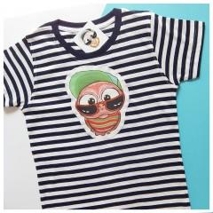 Detské pásikavé tričko - OčiPuči Čičianko