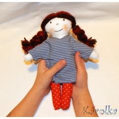 textilná bábika Agátka