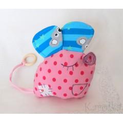 Hračka - hrkálka - hryzátko - Veselá myška