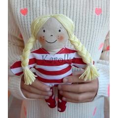 textilná bábika Katarínka