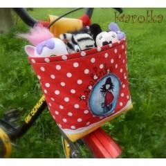 Košík / taška na bicykel - BikeBag bodkovaný