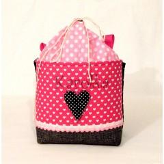 Košík / taška na bicykel - BikeBag ružové srdce