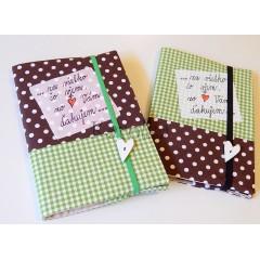 Zápisník -  Pre pani učiteľku / drevené srdiečko