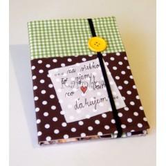 Zápisník -  Pre pani učiteľku / žltý gombík