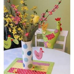 Veľkonočná dekorácia - Z farebného vajíčka
