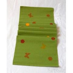 Štóla/obrus -  Zelená s motýľmi