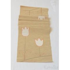 Štóla/obrus - Béžová s tulipánmi