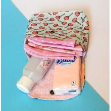 Rúška pre dievčatko + taštička - Ružové
