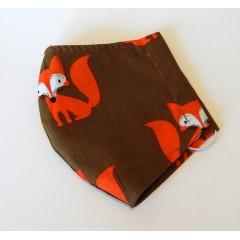 Bavlnené rúško detské - Líšky
