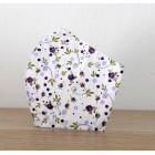 Bavlnené rúško - drobné kvietky fialové