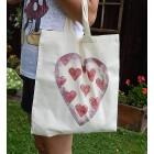 Prírodná nákupná taška - Srdce