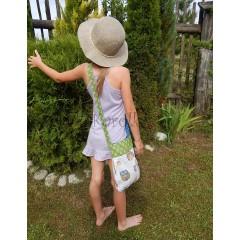 Taška pre deti - Sovičková v zelenom