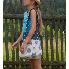Textilná taška - Ako sova húkala