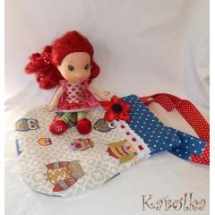 Bavlnená taska pre deti - Sova