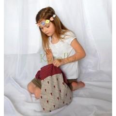 Bavlnená taška pre deti -Srdce