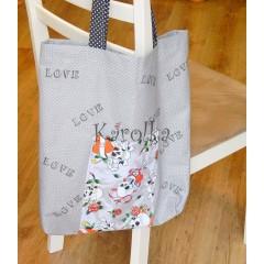 Nákupná taška - LOVE v sivom