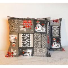 Vianočný vankúš - Snehuliačik