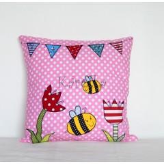 Bavlnený vankúšik - Rozprávková včielka