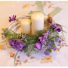 Veniec na stôl / dvere - Fialová fialka n.2