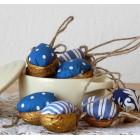 Vianočná dekorácia - Oriešok - Modré vianoce